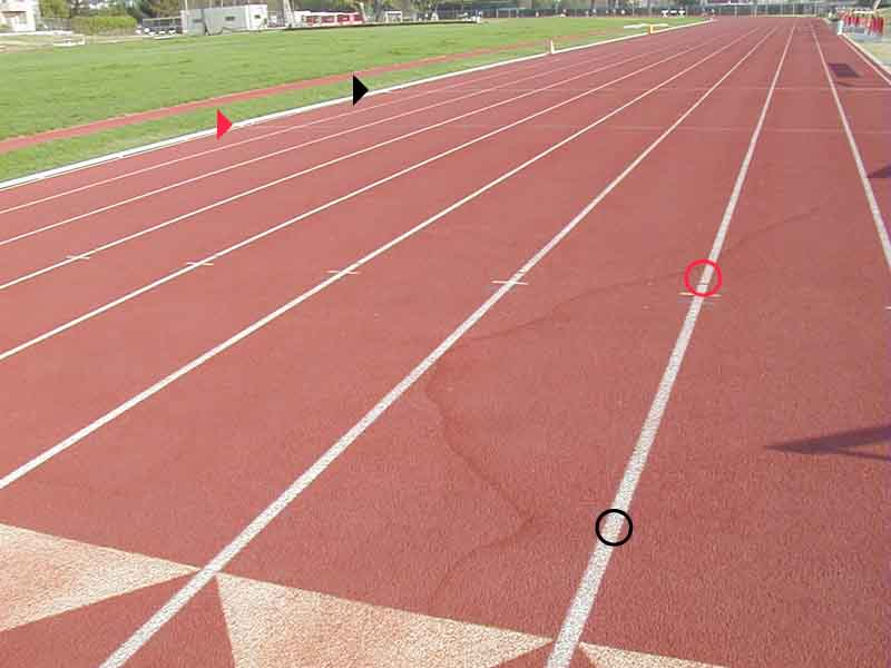300 Meters On A Track Diagram